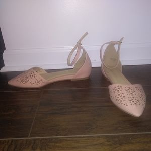 10 Light pink blush cutout flats